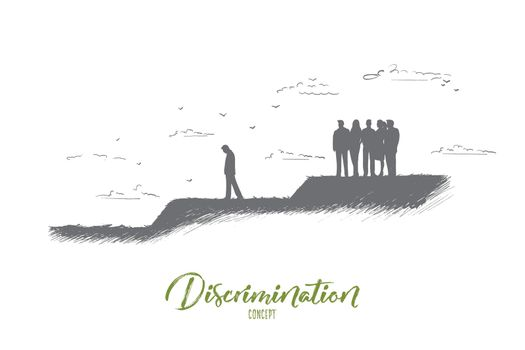 Discrimination concept. Hand drawn isolated vector.