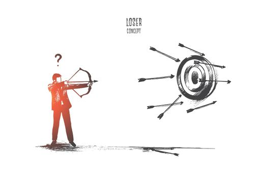 Loser concept. Hand drawn isolated vector.
