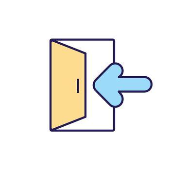Exit RGB color icon