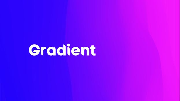 Purple blue gradient wave. Neon gradient graphic color background. Vector illustration,