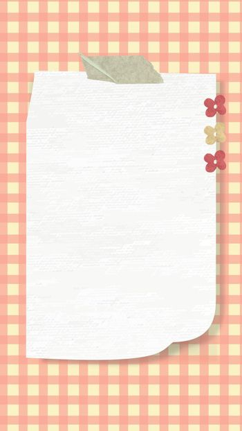 Aesthetic paper note background wallpaper vector