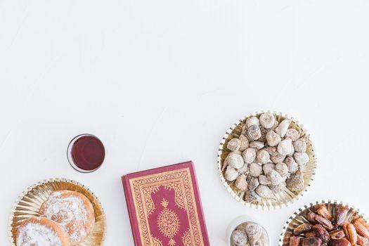 traditional desserts koran book. High quality photo