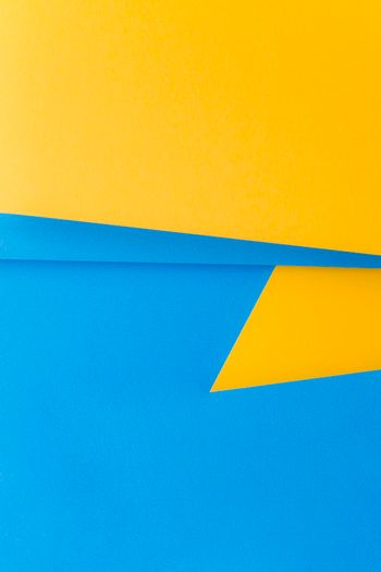 dual yellow blue background writing text