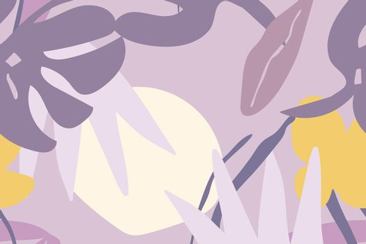 Purple seamless pattern aesthetic background design vector