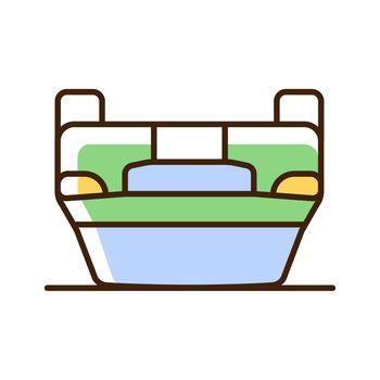 Rollover crash RGB color icon