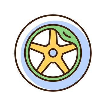 Wheel damage RGB color icon