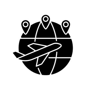 Excellent connectivity black glyph icon