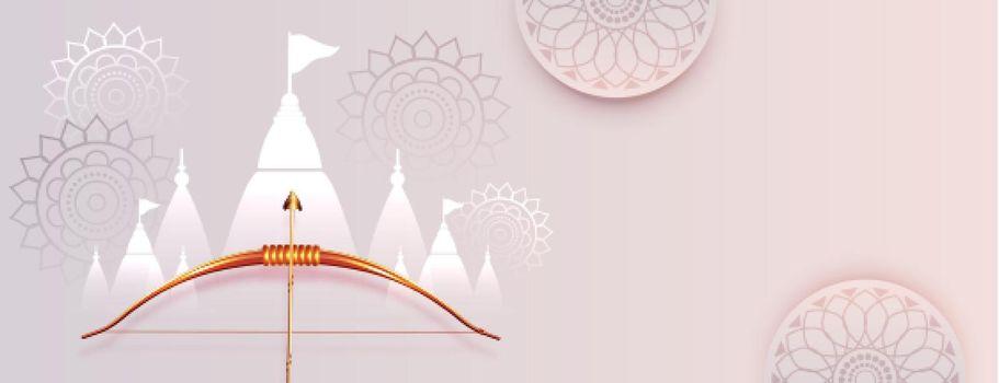 elegant dussehra festival banner design