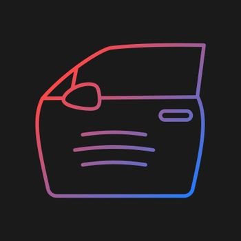 Paint scratch on car gradient vector icon for dark theme