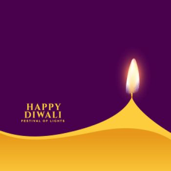 happy diwali traditional minimalist style simple card design