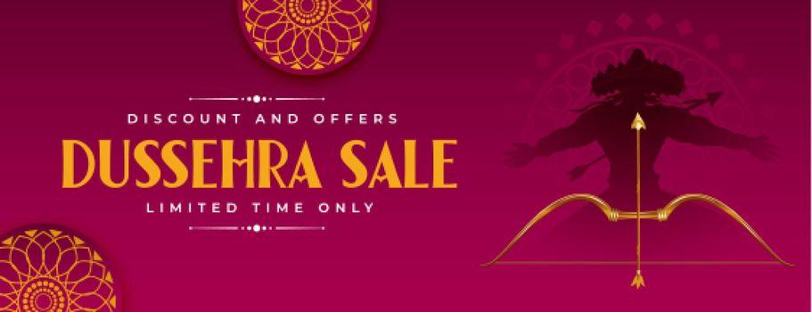 sale banner for dussehra festival
