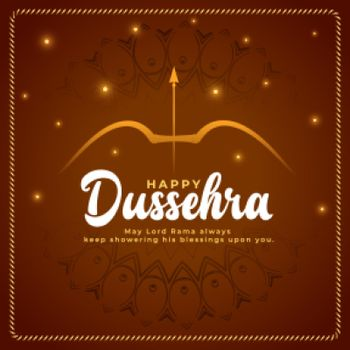 shiny happy dussehra wishes card background
