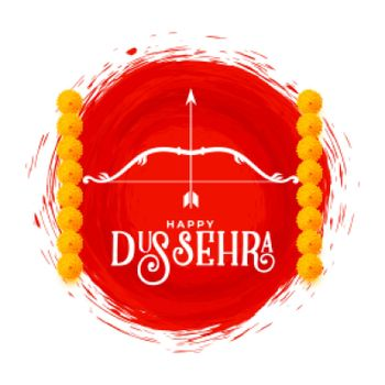 happy dussehra hindu culture card design