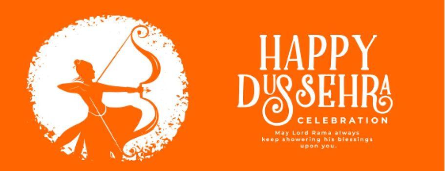 greeting banner for happy dussehra festival