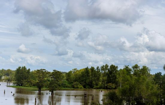 In the monsoon season floods occur in agricultural areas field
