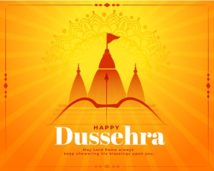 hindu festival of happy dussehra wishes background