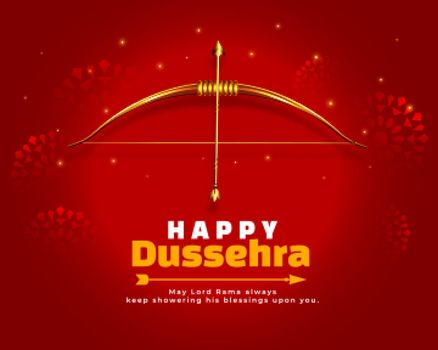 red wishes card for dussehra festival