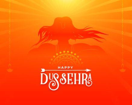 greetng card design for dussehra festival