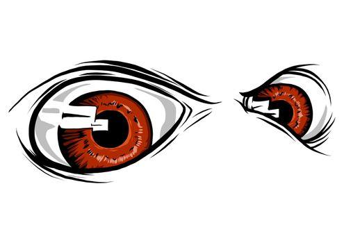 a Creature Animal eyes. vector illustration design