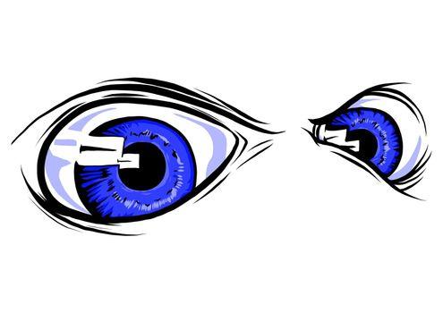 Set of creepy eyes, Halloween elements vector