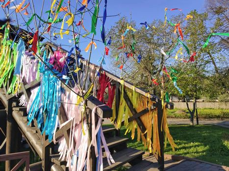 carnival - pagan celebration with ribbons in ukraine Maslenitsa
