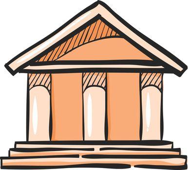 Color Sketch Icon Bank building