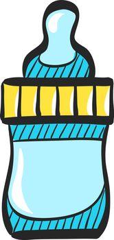 Color Sketch Icon Milk bottle
