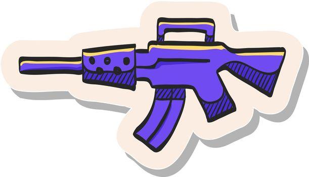 Hand drawn sticker style icon Vintage Firearm