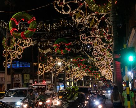 Thousands of Christmas lights and wreaths magical wow