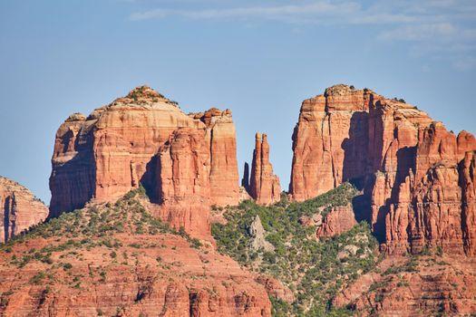 Arizona detail of red rock mountains landscape