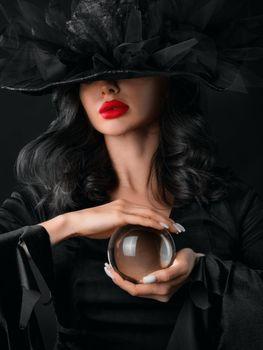 Fortune teller halloween witch