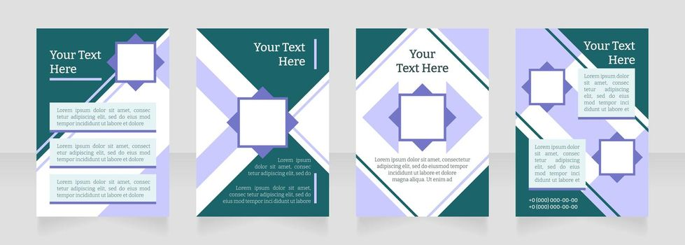Health care institution promo blank brochure layout design. Vertical poster template set with empty copy space for text. Premade corporate reports collection. Editable flyer paper pages