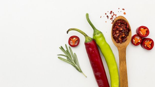 chilli condiment with copy space. High quality beautiful photo concept