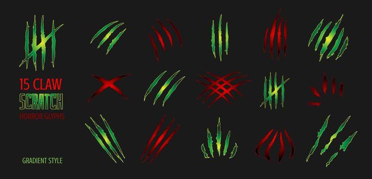 Claw scratch gradient vector illustration