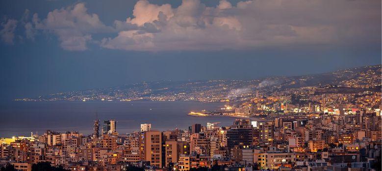 Evening Cityscape of Lebanon