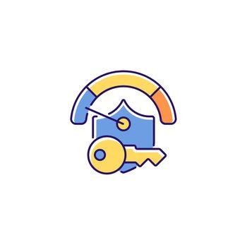 Weak password RGB color icon