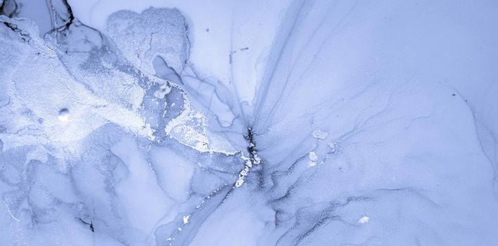 Ink Colours Mix. Fluid Wave Wallpaper. Indigo