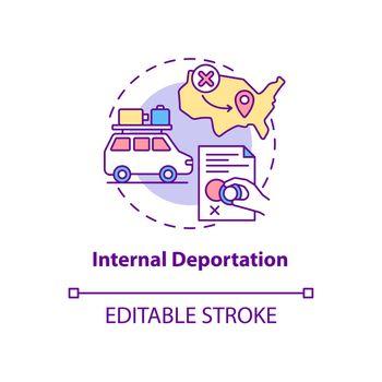Internal deportation concept icon