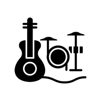 Musical talent black glyph icon