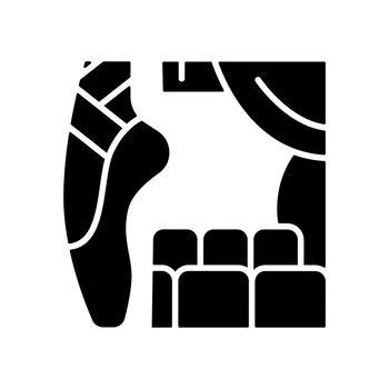 Dancing talent black glyph icon