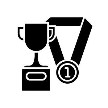 Sports talent black glyph icon