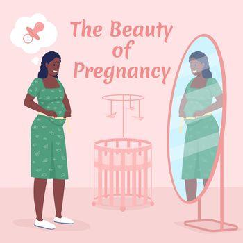 Maternity social media post mockup