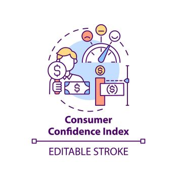Consumer confidence index concept icon