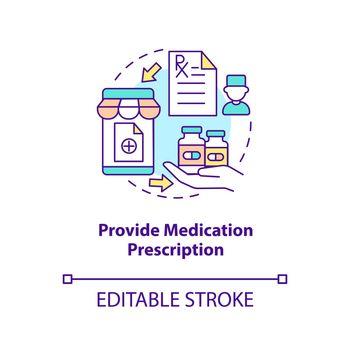 Provide medication prescription concept icon