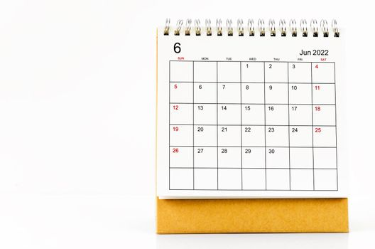 June 2022 Desk calendar.