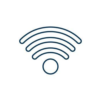 Wi-fi RGB color icon