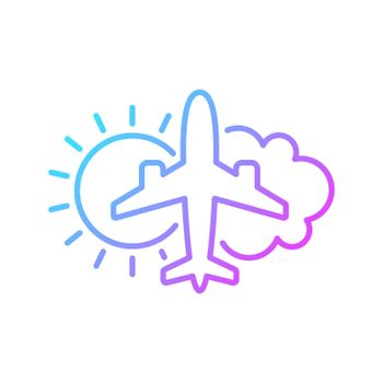 Aeronautical meteorology gradient linear vector icon