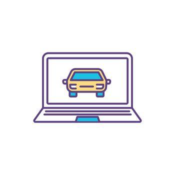 Automotive design RGB color icon