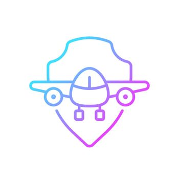 Aviation safety gradient linear vector icon
