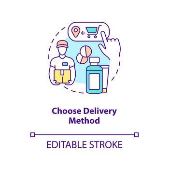 Choose delivery method concept icon
